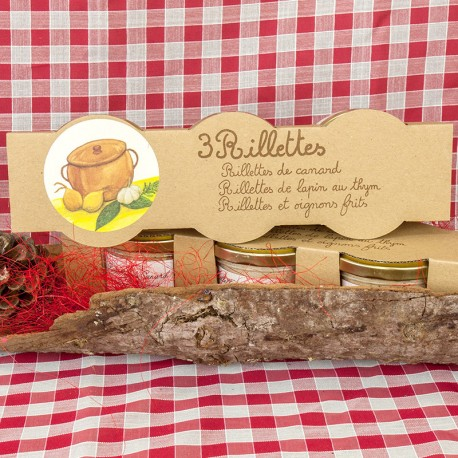 Lot de 3 rillettes